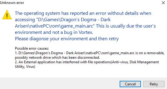 Vortex problem with game_main arc - General Dragon's Dogma